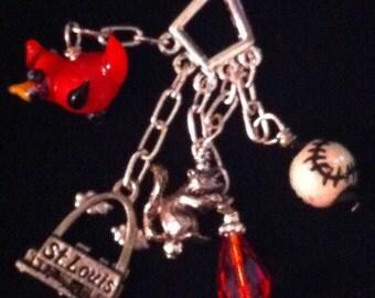 St. Louis Cardinal Baseball Charm Necklace