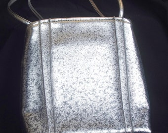 Vintage Silver and Black Metallic Purse