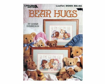 Bear Hugs Sweet Dreams Color Charted Cross Stitch  1991