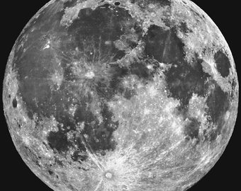 The Moon 12x12 Space Poster