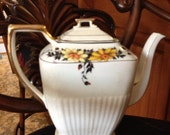 Floral Shabby Chic Coffee or Tea Pot