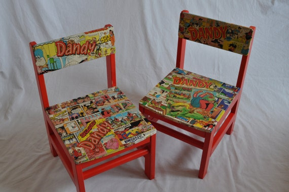 Items Similar To One Off Decoupage Kids Chair Set 2 All