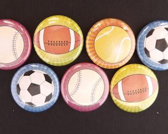 "Sports Balls 1"" Round Buttons"