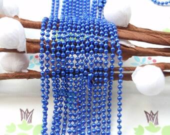 SALE--10 pcs 27inch, 1.5 mm Royal Blue  Chain Necklaces -