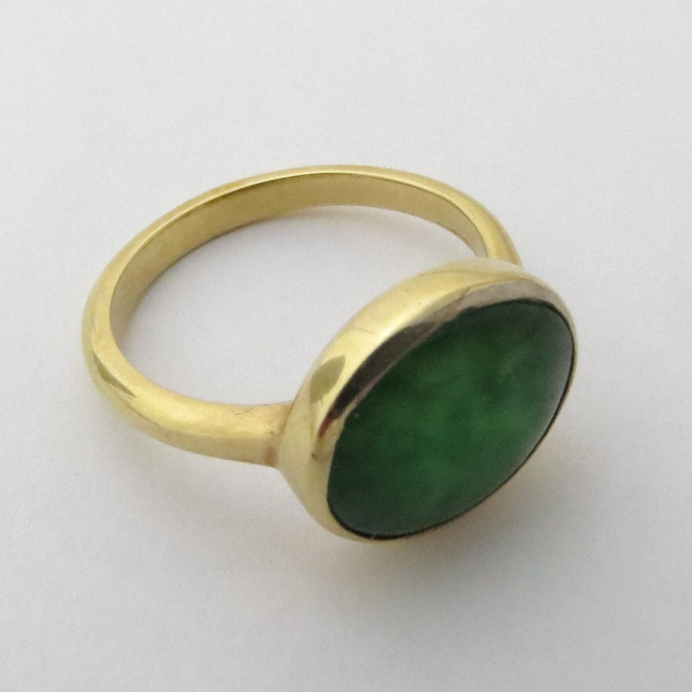 Jade ring 14k gold and jade ring engagement ring birthstone for Jade wedding ring