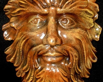 Classical Green Man wall plaque