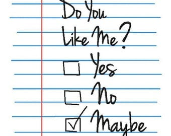 INSTANT DOWNLOAD Do You Like Me Bonus Three Pack with Yes No and Maybe Machine Embroidery Design