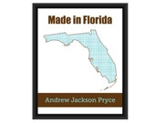 Made in Florida, Personalized State Art Print, Name, Florida, Boy or Girl - Nursery/Children's Art Print - 8 x 10 in. SAP1: Florida-2