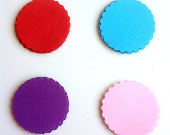 25 tags in colored cardboard for packaging, decorations and gift ideas