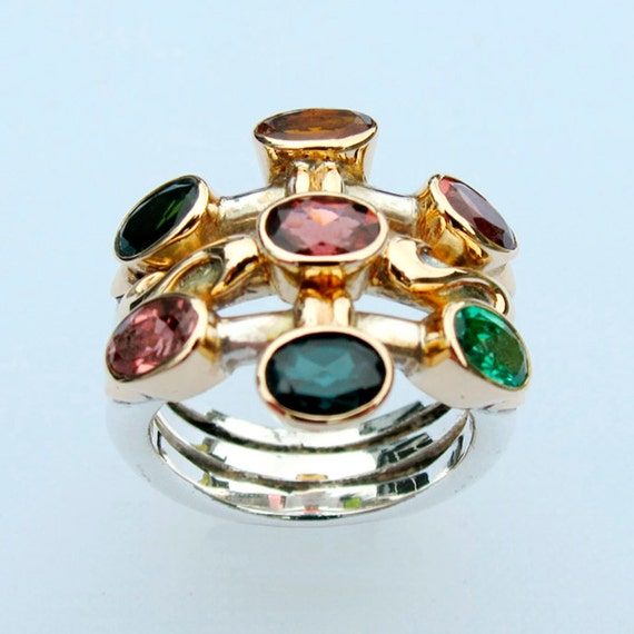 Ring with Tourmaline, Size 7.5