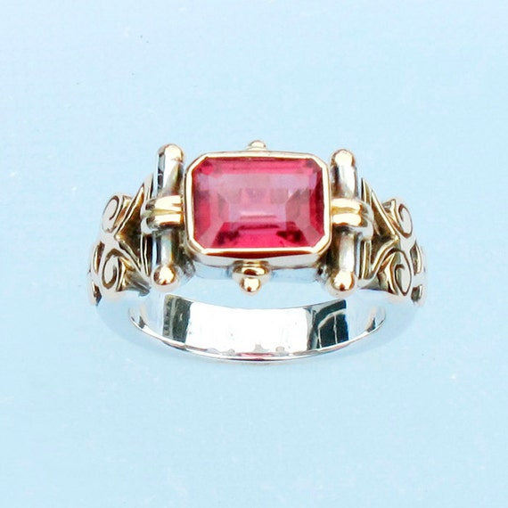Ring with Rubellite, Size 7.75