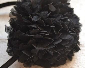 Black PonPon Headband