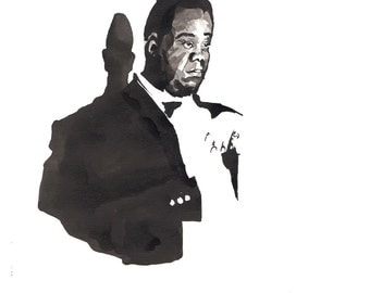 """Print of New Orleans Jazz genious, Louis """"Satchmo"""" Armstrong - 8x10"""