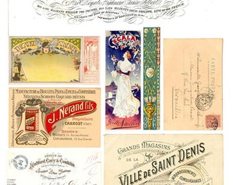 Vintage Ephemera Collage Sheet  No.6570