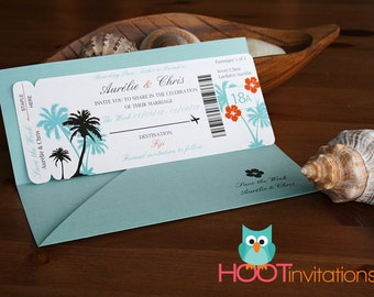 Boarding Pass Invitation - Save the Date - Destination Wedding Invitation SAMPLE Invite