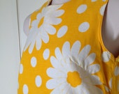 RESERVED for ASTRID 60's Vintage Sunshine Yellow Plus Size Shift Dress Size 14 Mod Fabulous