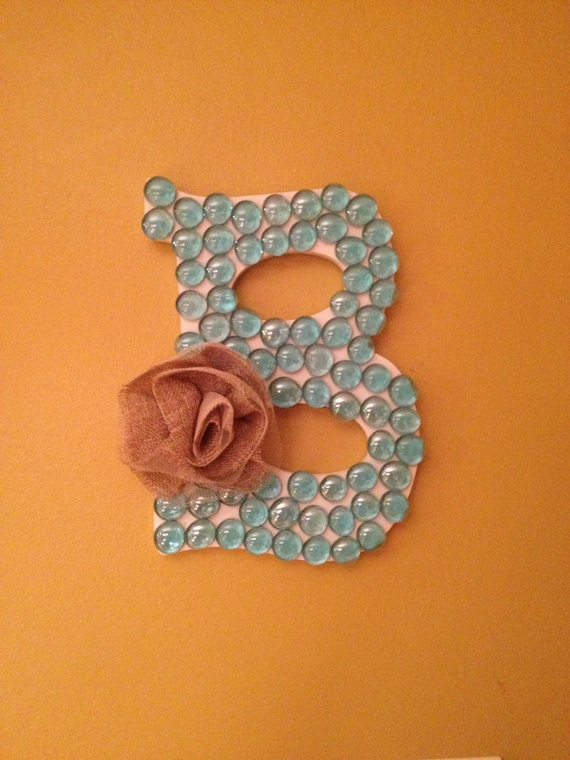 Etsy Initial Wall Decor : Items similar to wood marble initial monogram wall decor