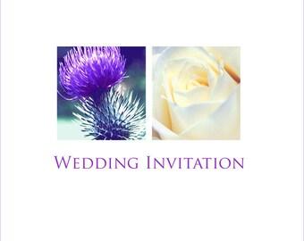 Thistle & Rose Invitation