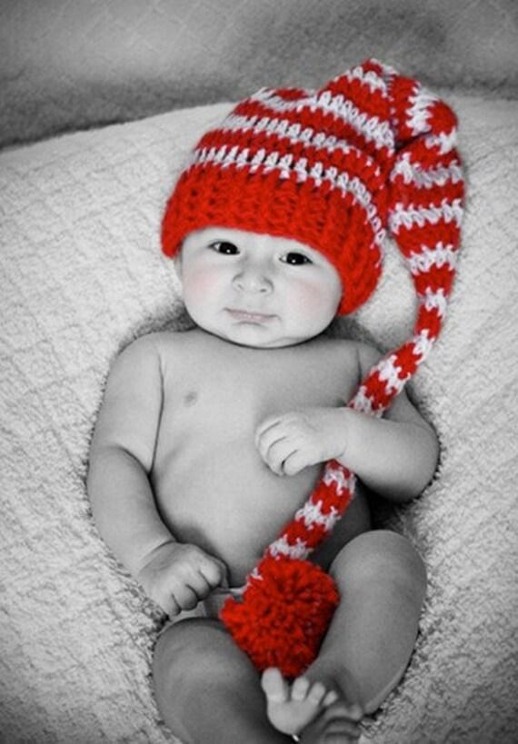 Items similar to Longtail Elf Hat Pattern Crochet ...