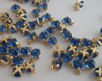 10pcs  Swarovski siam rhinestone dangle beads 34ss 7mm