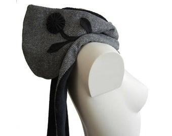 Hood scarf hooded scarf flower flower