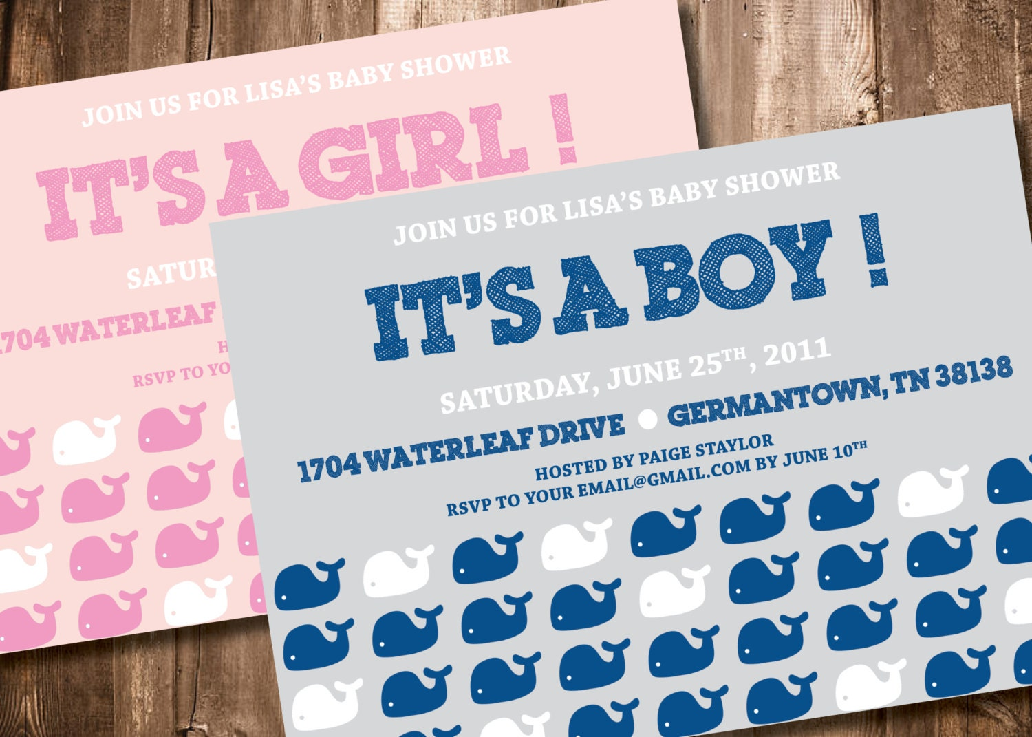 whale baby shower invitation by paigespaper on etsy