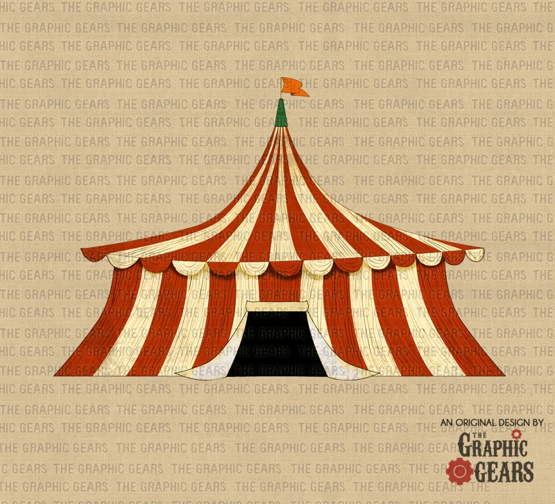 circus tent clip art vintage tent the big top by graphicgears