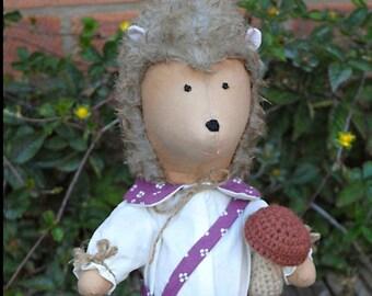 Interior stuffed toy Kazik hedgehog Handmade Toy Tilda Doll Cloth Toy Love Doll Textile Doll  Fabric Toy Puppen Rag Toy Art