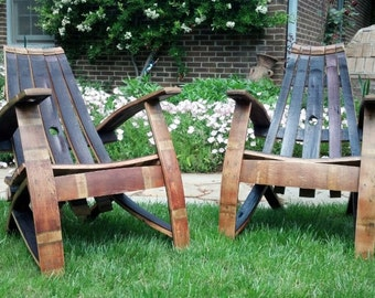Items Similar To Rustic Adirondack Chair Reclaimed French