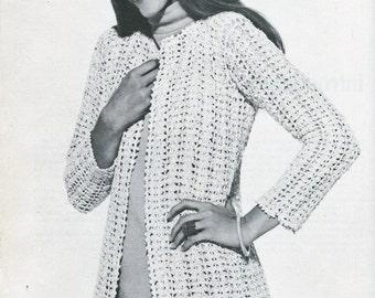 Ladies Crochet long jacket pattern
