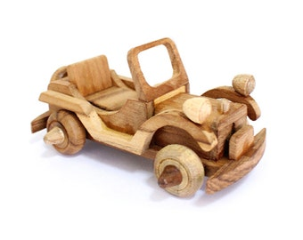 Wooden Toy Classic Car 01 in Handmade