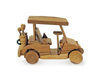 Wooden Toy Golf Car in Handmade