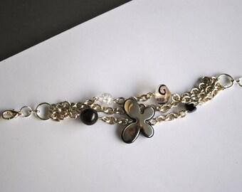 Charms black and white bracelet