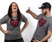 Unisex Midwest is Best Tshirt, Gray and Red - FREE SHIPPING