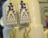 Eye Chart Earrings  optometrist glasses four eyes