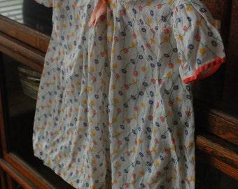 Vintage 1940s flower baby dress