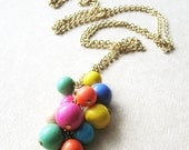 Long Strand Necklace. Vintage Beaded Necklace. Pastel Color Jewelry.  I Want Candy - pulpsushi