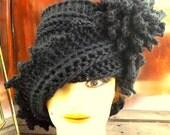 Crochet Pattern Hat, Crochet Hat Pattern, Womens Hat, LAUREN Cloche Hat Pattern with Flower, Crochet Flower Crochet Pattern, Formal Hat