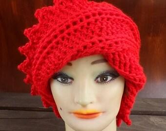 Crochet Hat Womens Hat Trendy, Womens Crochet Hat, Crochet Beanie Hat, Red Hat, Lauren Beanie Hat for Women, Crochet Hat