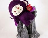 Purple Flying Bad Monkey Keychain Plush ornament