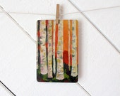 Stationary / Postcard / Blank Card - Birch Trees Art Postcard - based on original oil painting