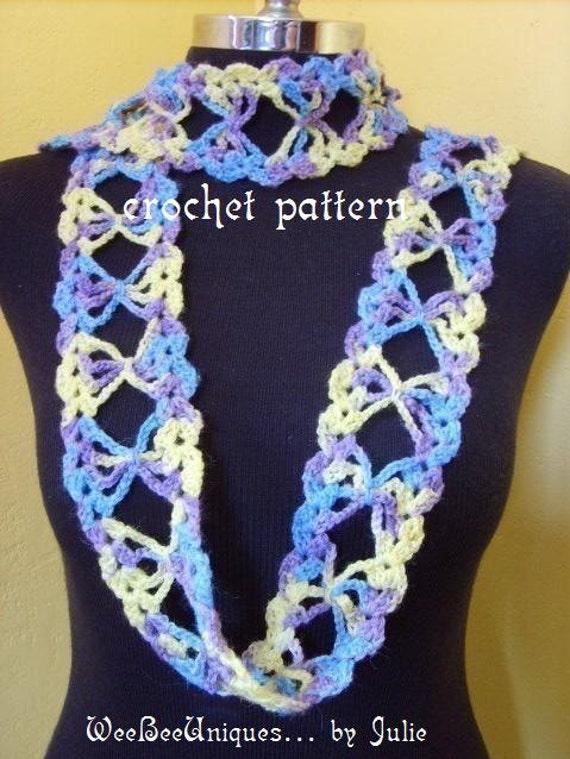 Crochet Butterfly Shawl Free Pattern : crochet pattern digital download Lacy Butterfly scarf