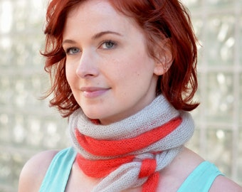 Parfait Scarf(ait) - hand knitting pattern PDF