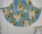 Bib Apron with Sunflowers  #2120 Size X Large