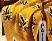Pattern - New Orleans Saints Fans Afghan Pattern PDF oop crochet Team Pride. Immediate Download.