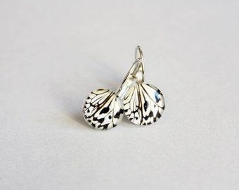 Delicate Wings / Romantic, Whimsical, Bohemian Dangle Earrings - Butterfly Wings Print