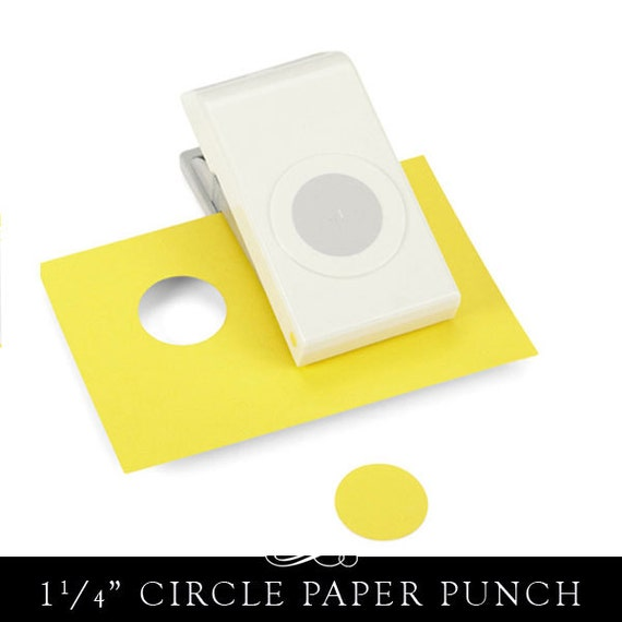 Large Round Paper Punch 1.25 Inch Circle. Easy View Window.