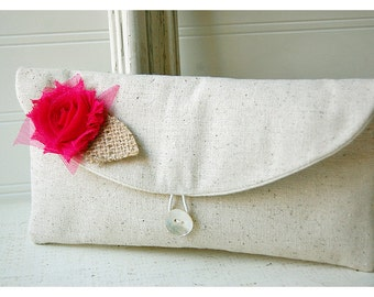 hot pink, burlap blue,black, gold clutch rustic rose Floral Clutch, Spring Wedding Clutch, Bridesmaid Gift, Bridesmaid Clutch, Makeup Bag