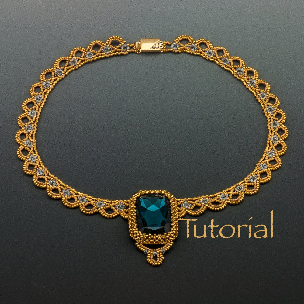 Necklace Beads: Beaded Necklace Tutorial Sparkling Lace Collar Digital