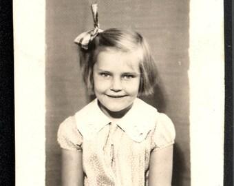 vintage photo Blond School Girl